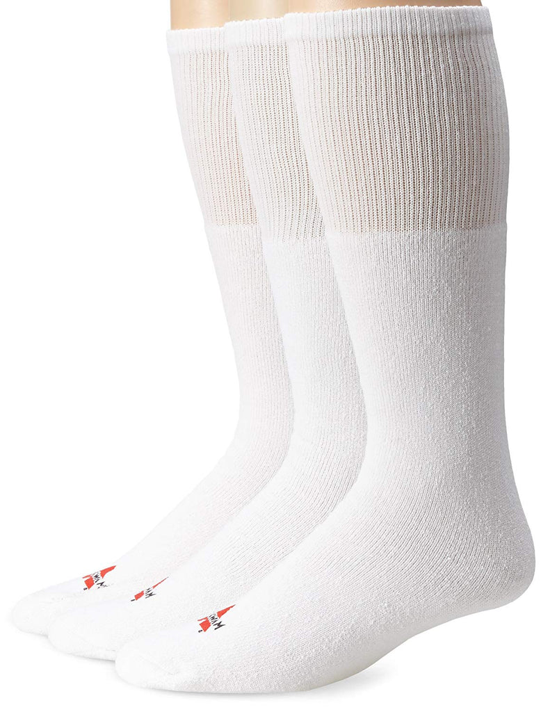Wigwam Mens Super 60 Tube 3-Pack Over-the-Calf Length Socks - White - One Size