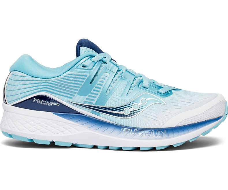 Saucony Womens Omni ISO Running Shoe Sneaker - White/Blue - Size 8