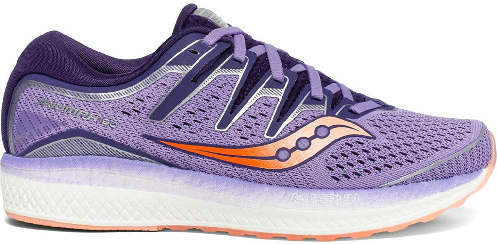 Saucony Womens Triumph ISO 5 Running Shoe - Purple/Peach - Size 7