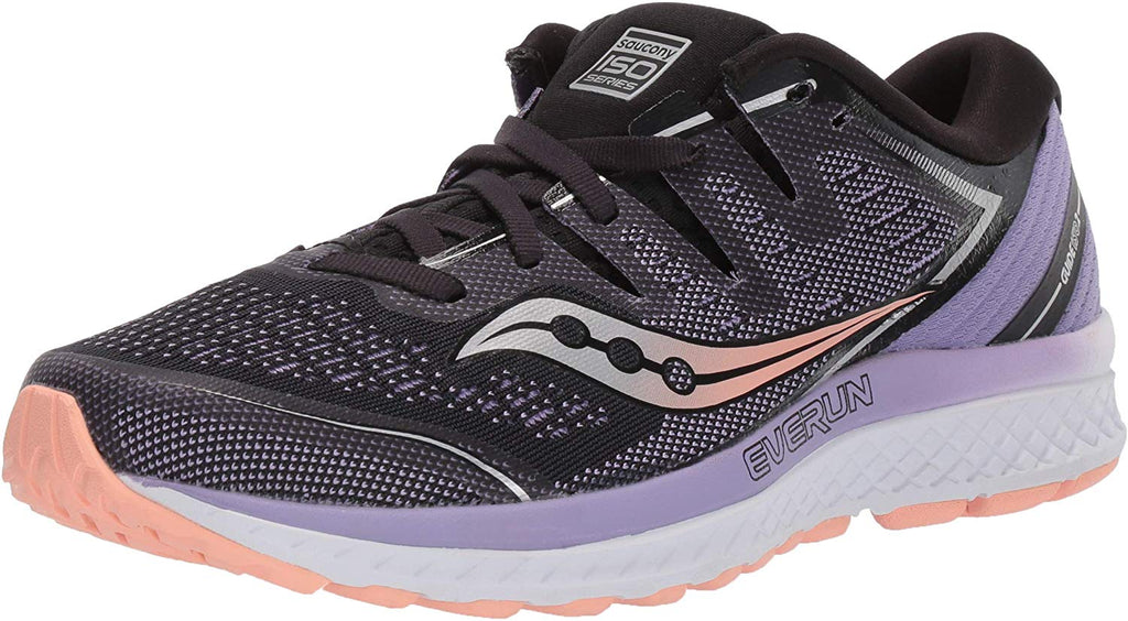 Saucony Womens Guide ISO 2 Running Shoe - Black/Purple - Size 6.5