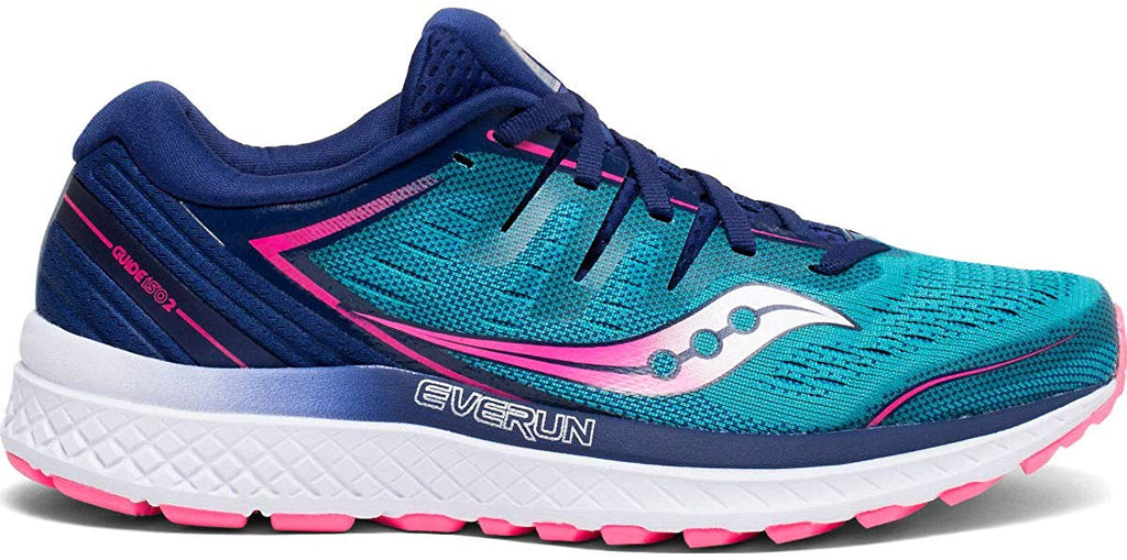 Saucony Guide ISO 2  Running Shoe - Teal/Pink - Size 6