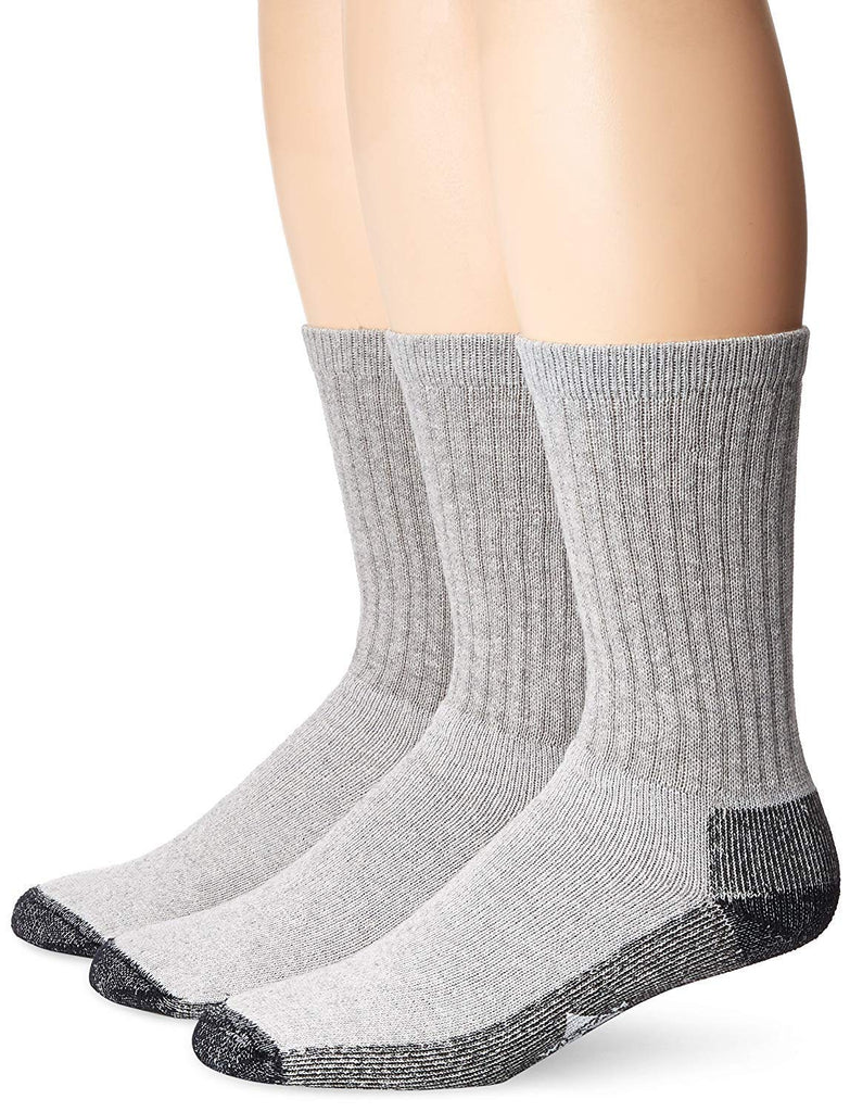 Wigwam Mens At Work 3-Pack Crew Socks - Gray - LG