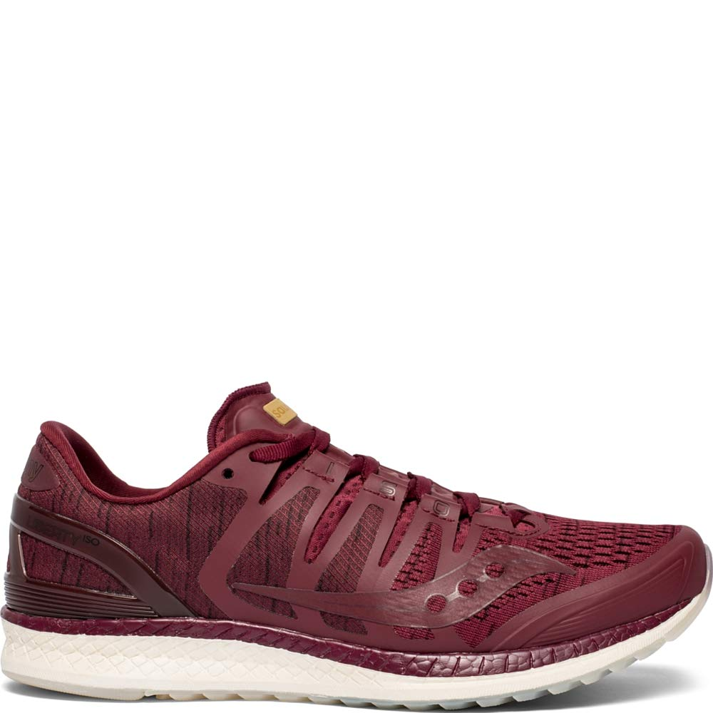 Saucony Liberty ISO Mens Running Shoes Sneakers - Burgundy Shade - 9