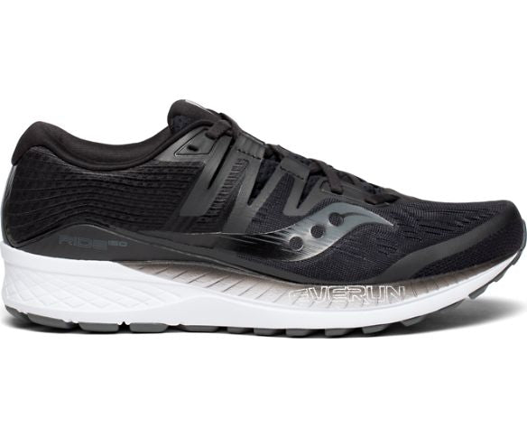 Saucony Mens Ride ISO Neutral Running Shoe Sneakers - Black - Size 11.5