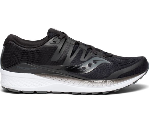 Saucony Mens Ride ISO Neutral Running Shoe Sneakers - Black - Size 11