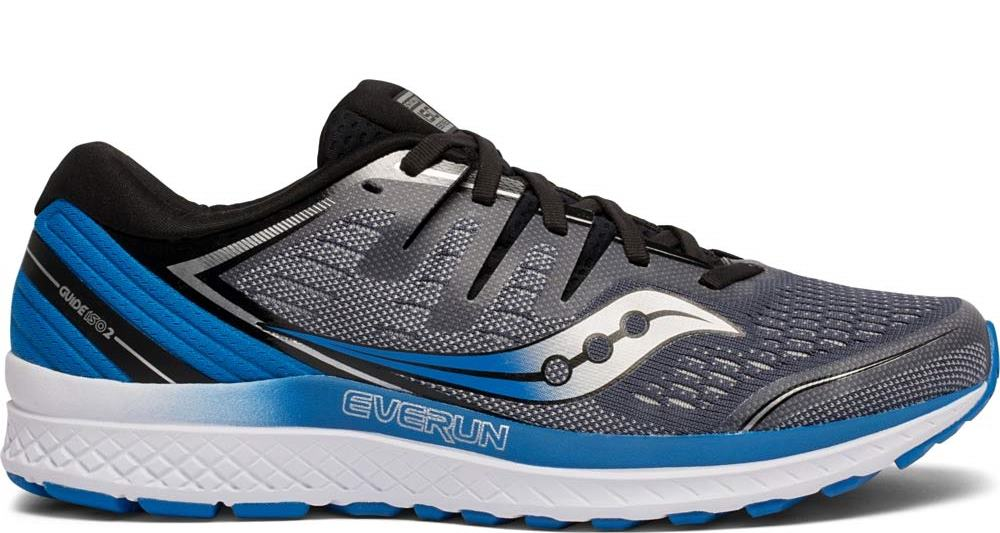 Saucony Mens Guide ISO 2 Road Running Shoe Sneaker - Slate/Blue - 9