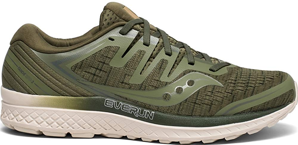 Saucony Mens Guide ISO 2 Road Running Shoe Sneaker - Olive Shade - Size 8