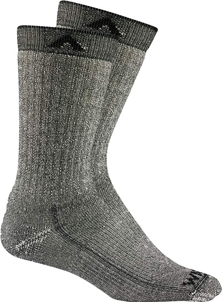 Wigwam Mens Merino Wool Comfort Hiker Crew Length 2-Pack Socks - Black II - LG