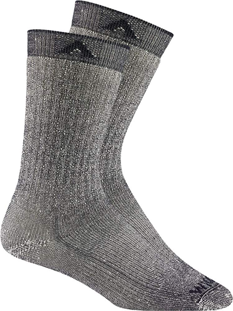 Wigwam Mens Merino Wool Comfort Hiker Crew Length 2-Pack Socks - Navy II - LG