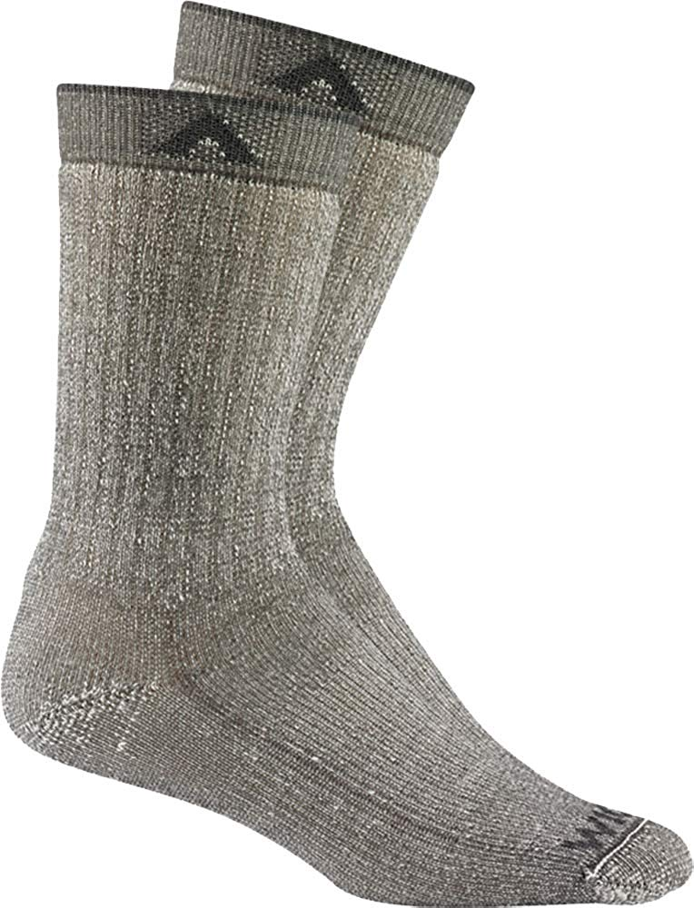 Wigwam Mens Merino Wool Comfort Hiker Crew Length 2-Pack Socks - Charcoal II - LG