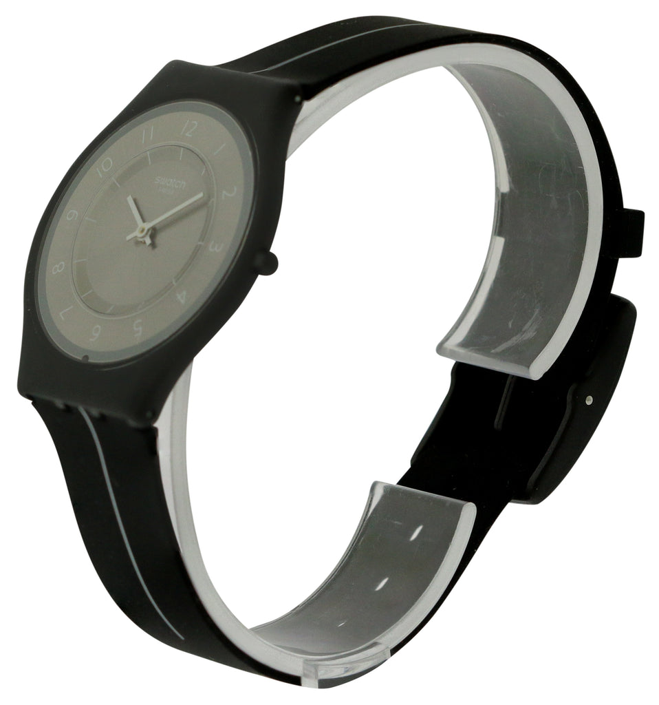 Swatch MY SILVER BLACK Silicone Ladies Watch