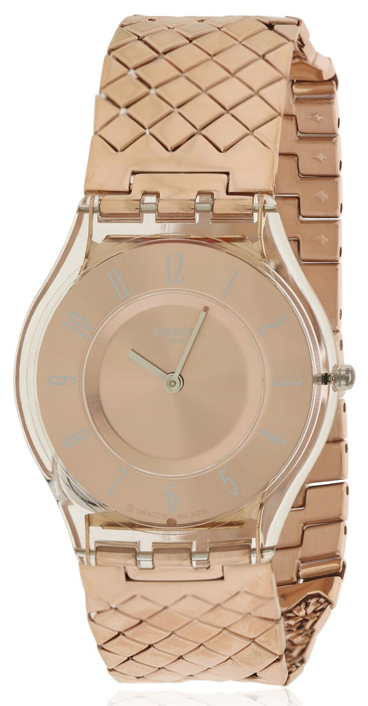 Swatch Pink Cushion Ladies Watch
