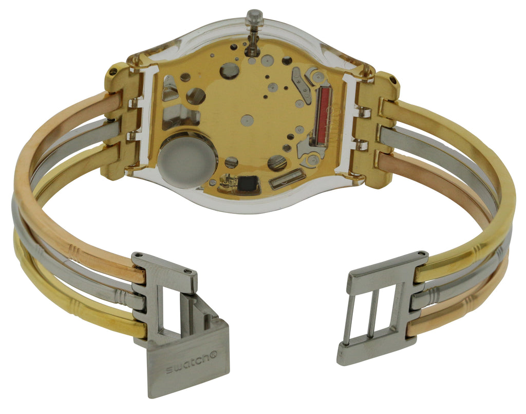 Swatch Tri-Gold Large   Ladies Watch