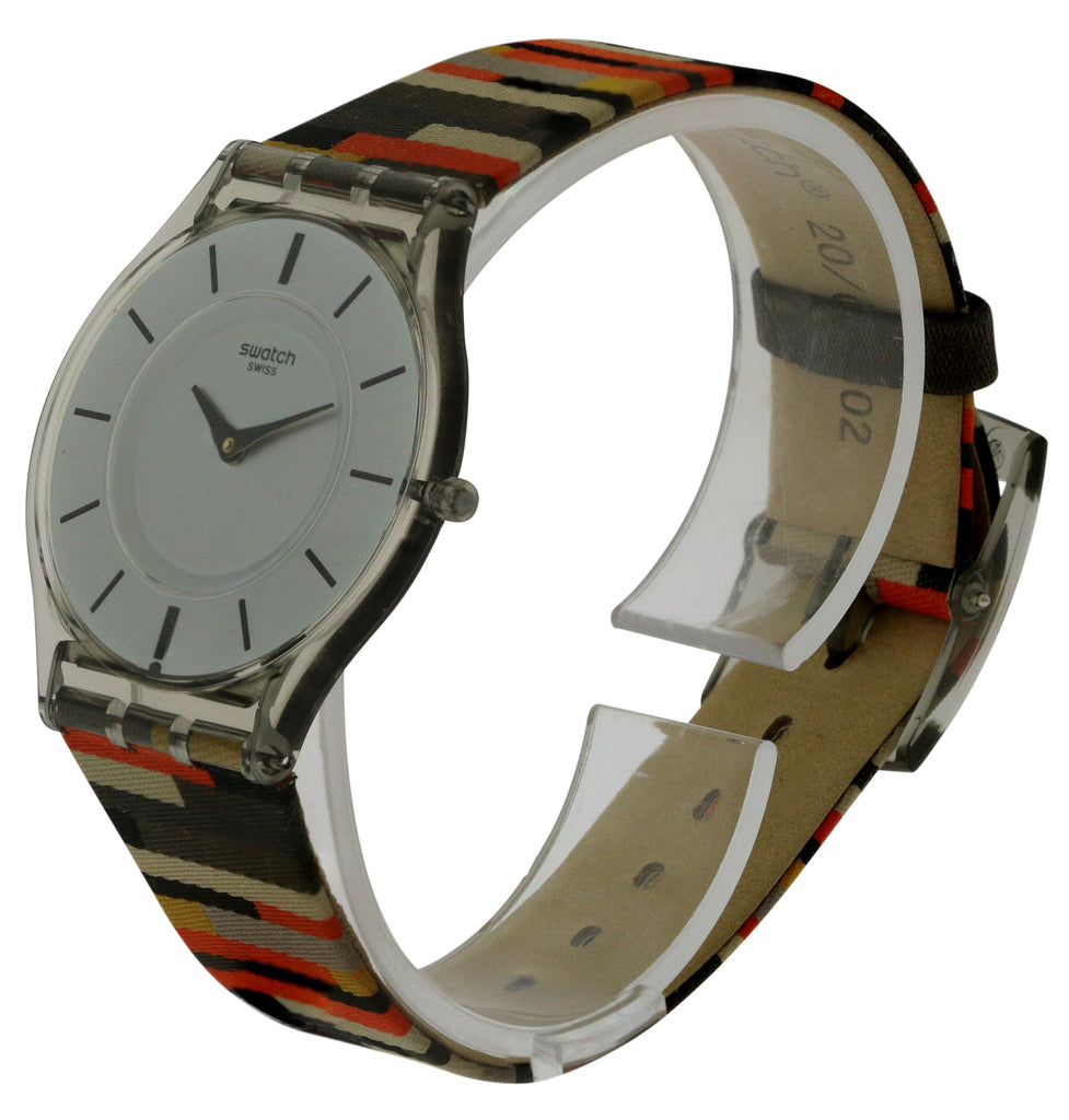 Swatch PATCHWORK Leather Unisex Watch
