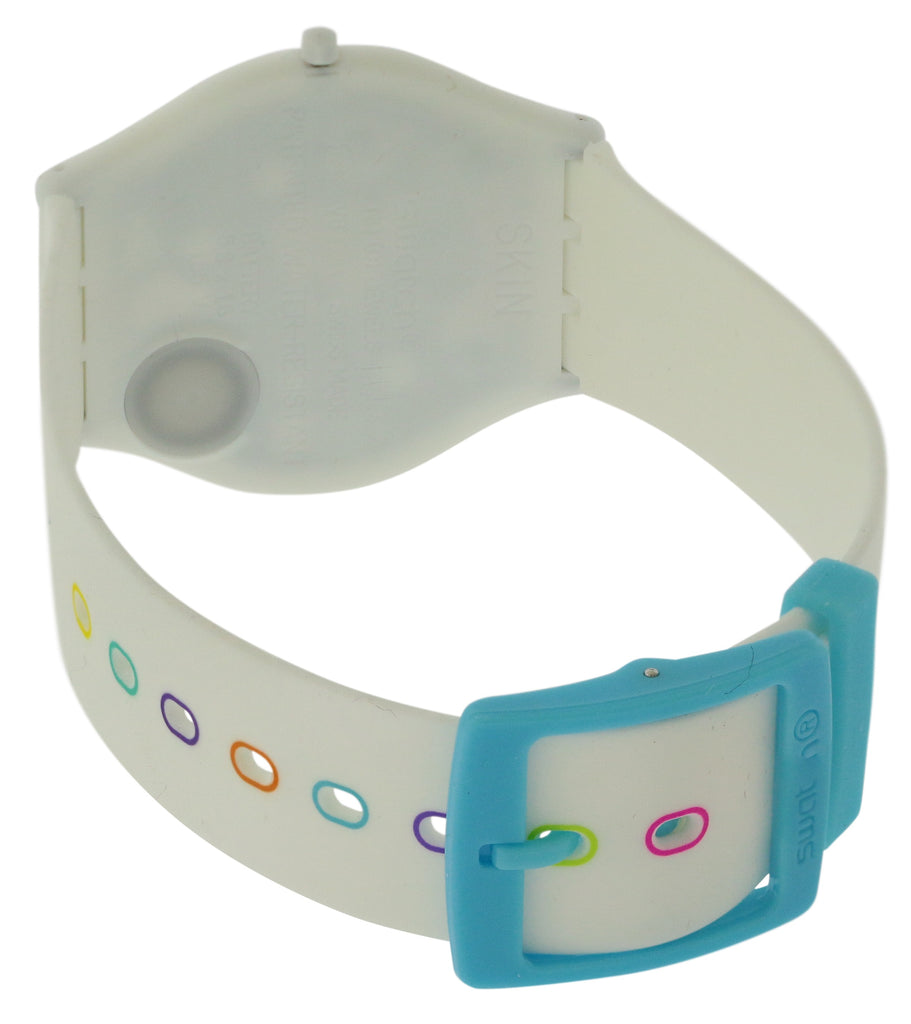 Swatch WHITE PARTY Silicone Unisex Watch