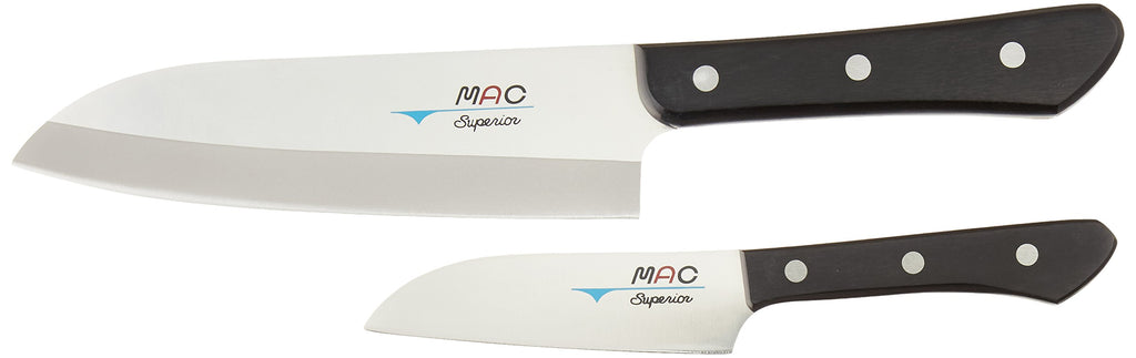 Mac Knife Superior Santoku Knife - Set of 2 - Silver -