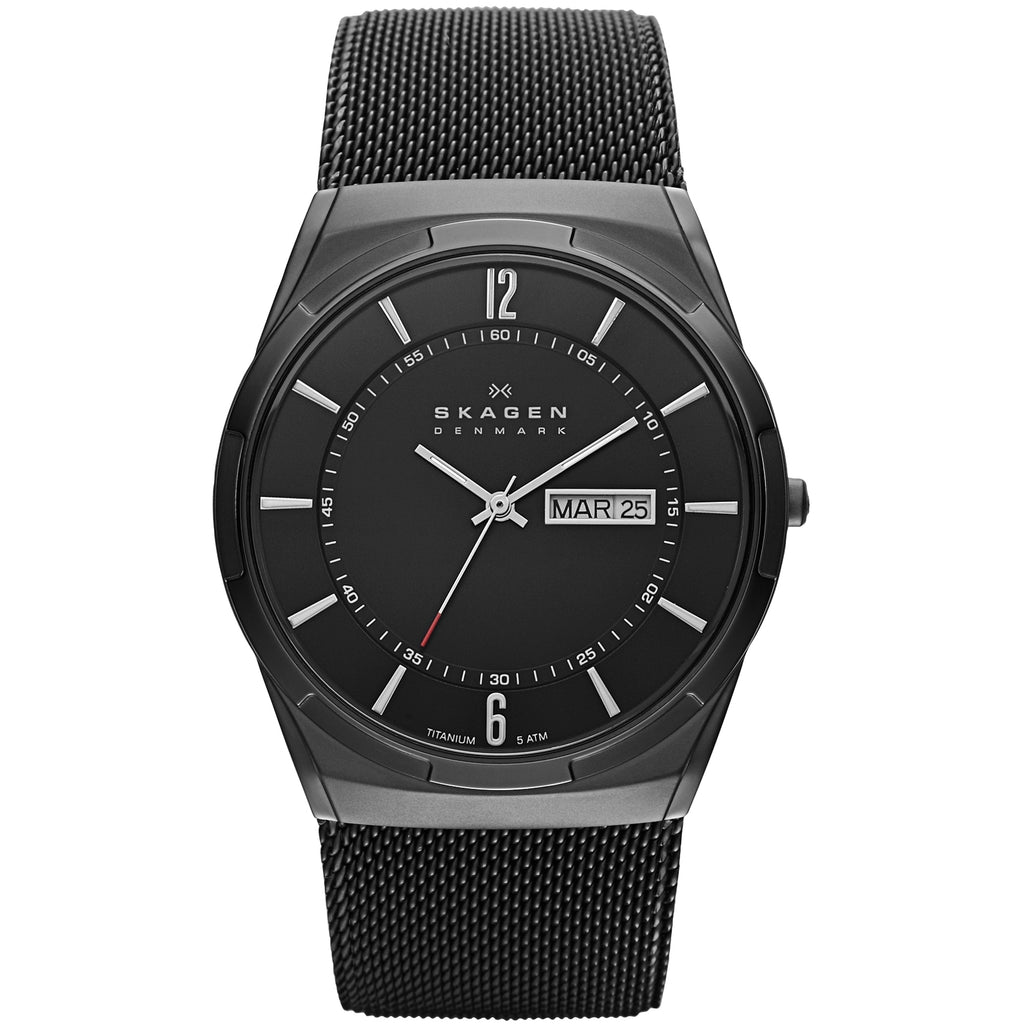 Skagen Aktiv Black Stainless Steel Mens Watch