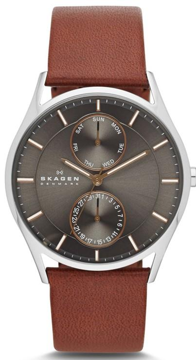 Skagen Holst Leather Chronograph Mens Watch