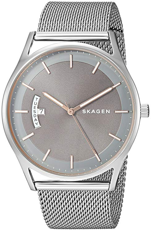 Skagen Holst Steel-Mesh Mens Watch