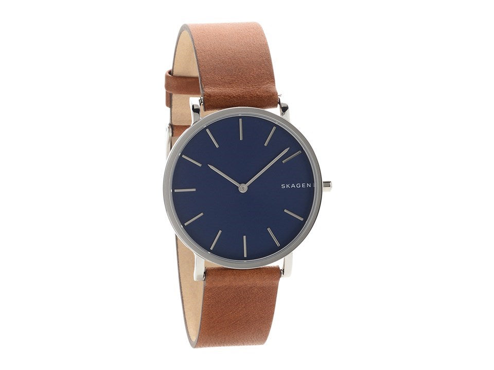 Skagen Hagen Leather Mens Watch