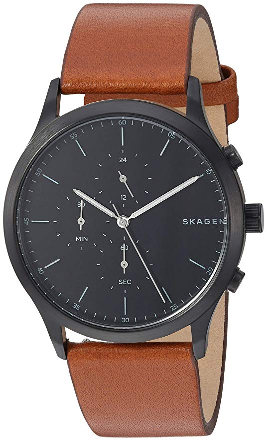 Skagen Jorn Brown Chronograph Leather Mens Watch