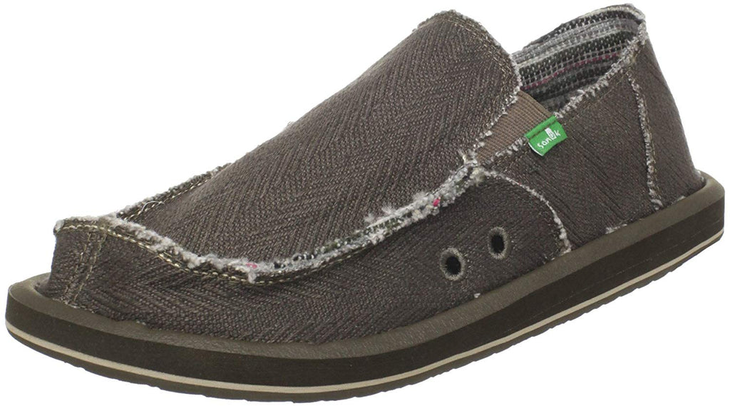 Sanuk Mens Hemp Sidewalk Surfer Black 10 M  US - Olive -