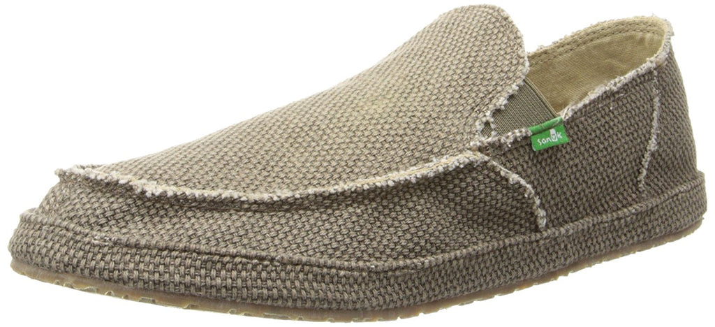 Sanuk Mens Rounder Slip On - Brown - 9 M US -