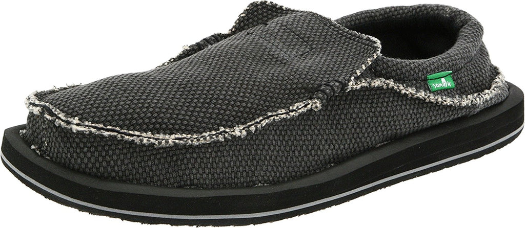 Sanuk Mens Chiba Slip-On - Black - 10 M US -