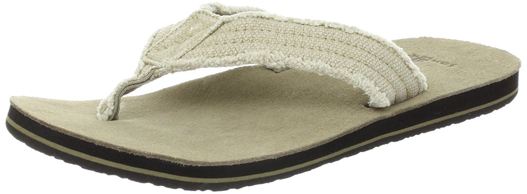 Sanuk Mens Fraid Not Flip Flop Natural10 M US -