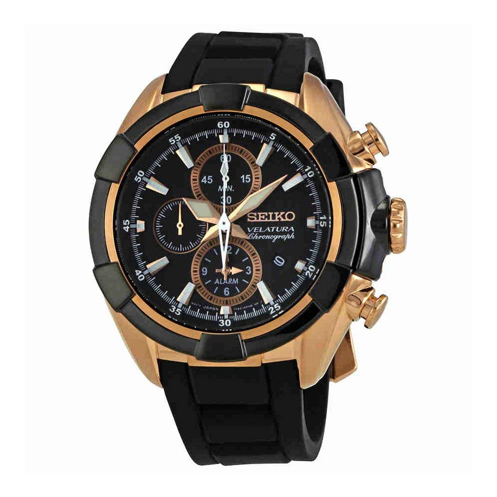 Seiko Velatura Silicone Chronograph Mens Watch