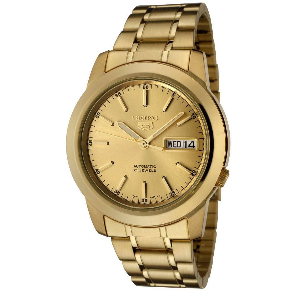 Seiko 5 Automatic Gold-Tone Mens Watch