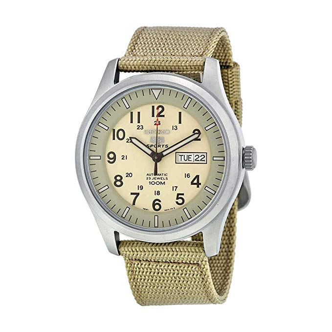 Seiko 5 Automatic Canvas Mens Watch