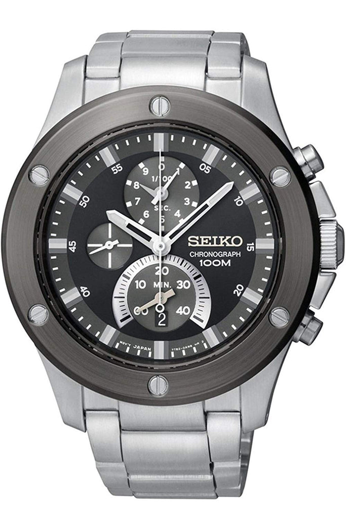 Seiko Chronograph Stainless Steel Case Mens Watch