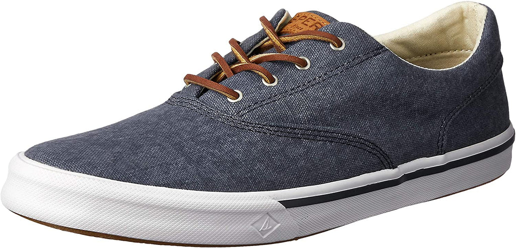 Sperry Mens Striper II Salt Washed CVO Sneaker - Navy - 11