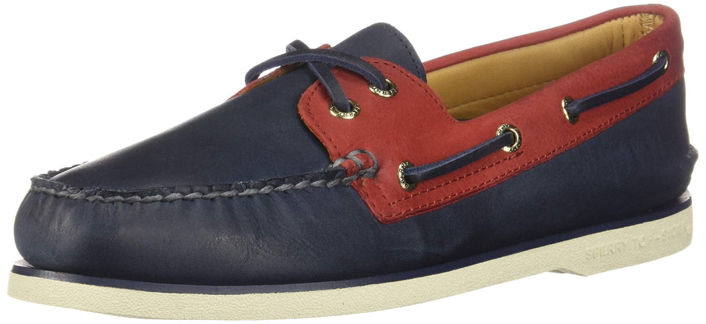 Sperry Mens Gold Cup Authentic Original Chevre Boat Shoe Navy/Red 10 M
