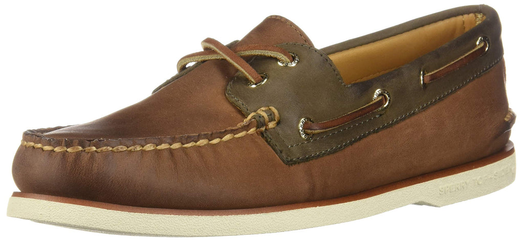 Sperry Mens Gold Cup Authentic Original Chevre Boat Shoe Brown/Olive 11 M