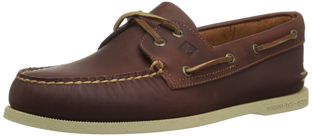 SPERRY Mens A/O 2-Eye Pullup Boat Shoe - Tan - 10