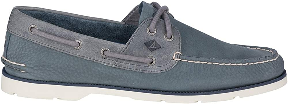 Sperry Mens Top-Sider Leeward Nubuck Boat Shoe - Grey Nubuck - 12