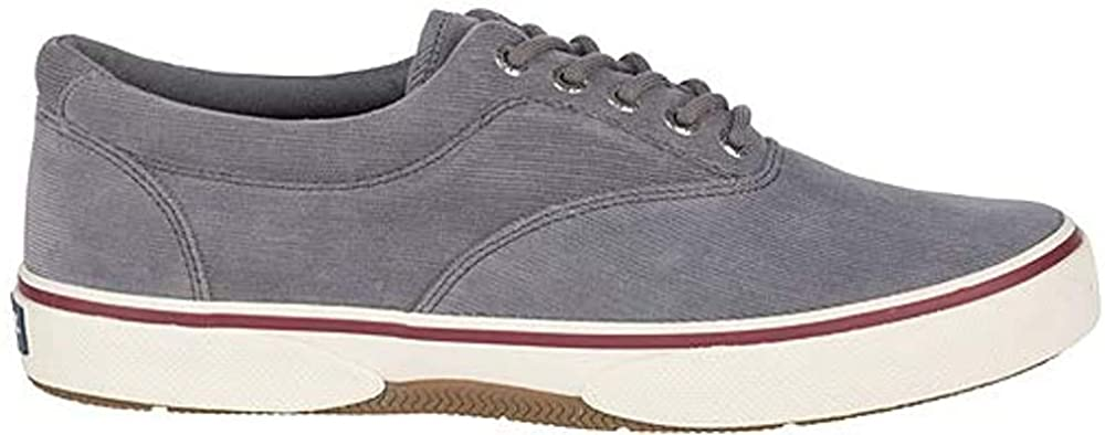 Sperry Mens Halyard CVO Canvas Sneaker - Grey Corduroy - 10.5
