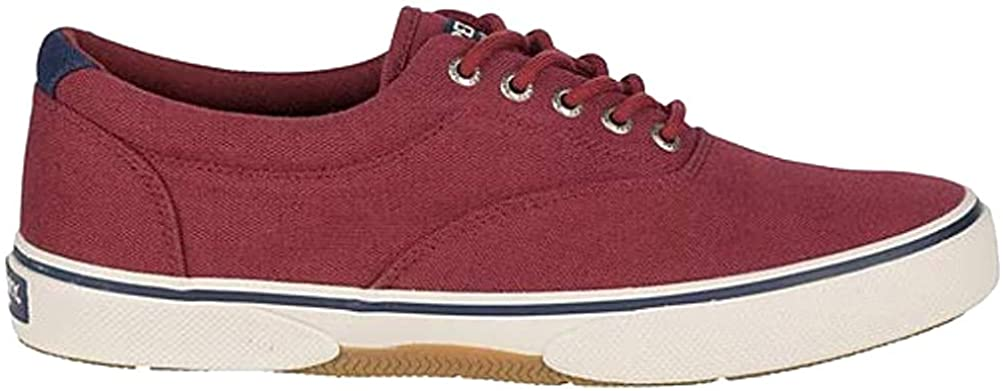 Sperry Mens Halyard CVO Canvas Sneaker - Canvas RED - 10