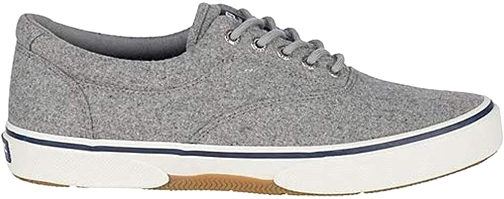 Sperry Mens Halyard CVO Canvas Sneaker - Grey Wool - 11.5