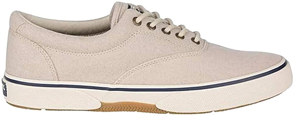 Sperry Mens Halyard CVO Canvas Sneaker- Oatmeal Wool - 10