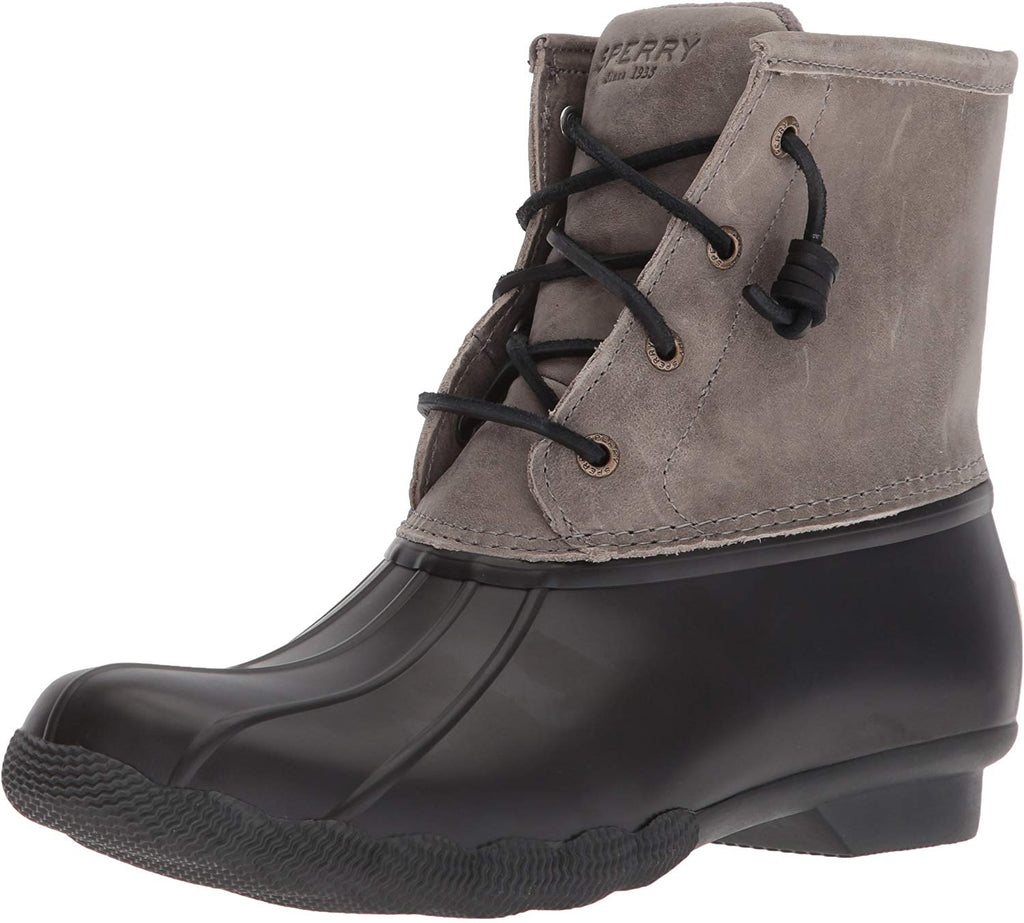 Sperry Womens Saltwater Boots - Black/Grey - 6