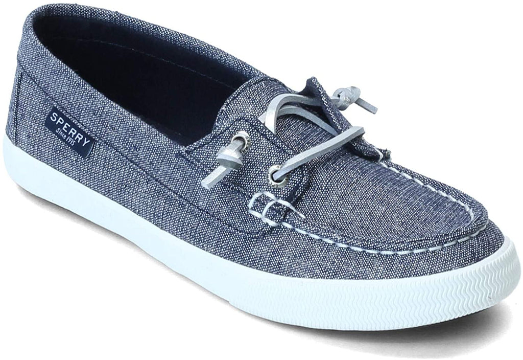 Sperry Lounge Away Sparkle Sneaker - Navy/Silver - 6