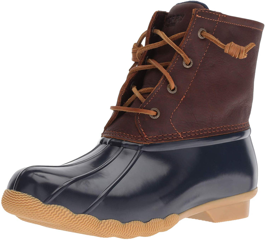 Sperry Womens Saltwater Boots - Tan/Navy - 6