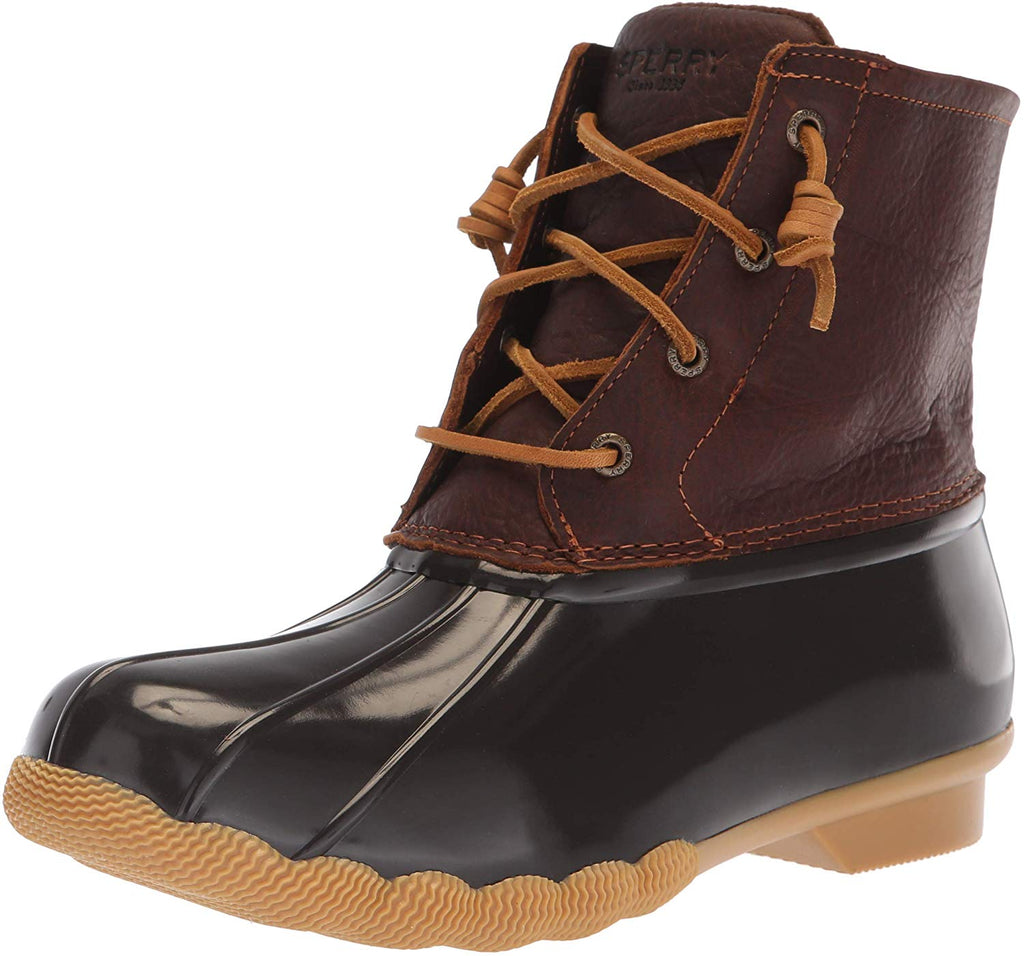 Sperry Womens Saltwater Boots - Tan/Dark Brown - 11