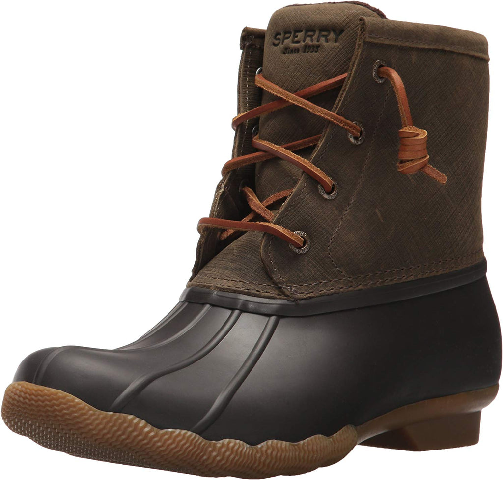 Sperry Womens Saltwater Boots - Brown/Olive - 6.5