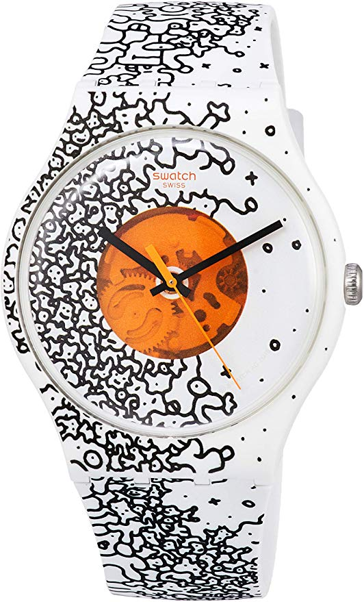 Swatch Orange Pusher Unisex Watch