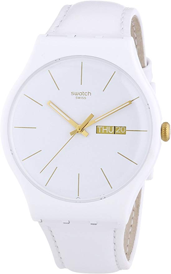 Swatch White Character Ladies Watch