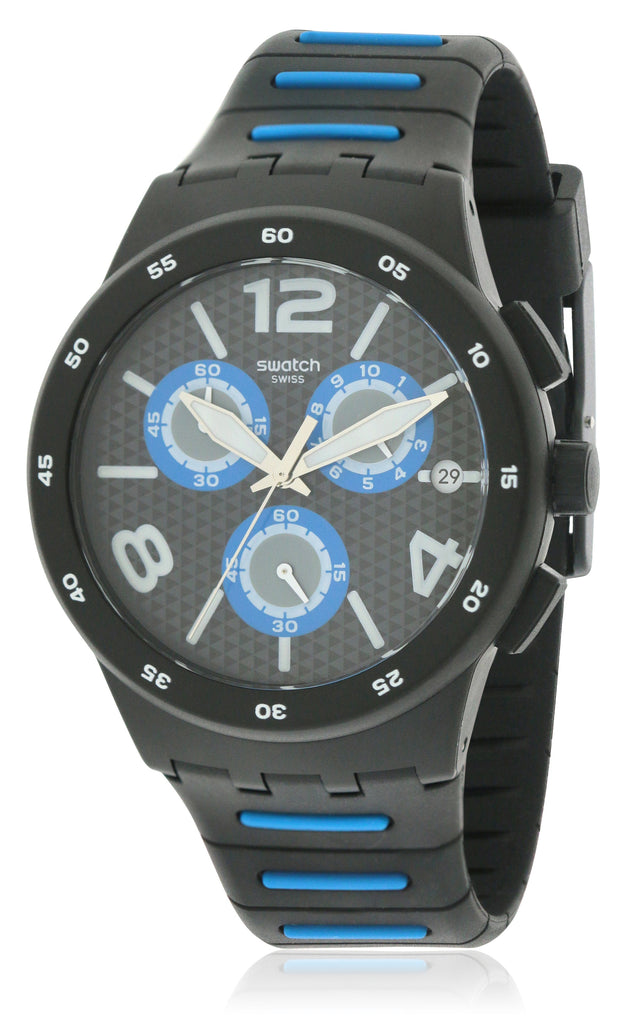 Swatch BLACK SPY Mens Watch